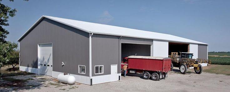 White Pole Barn Garage
