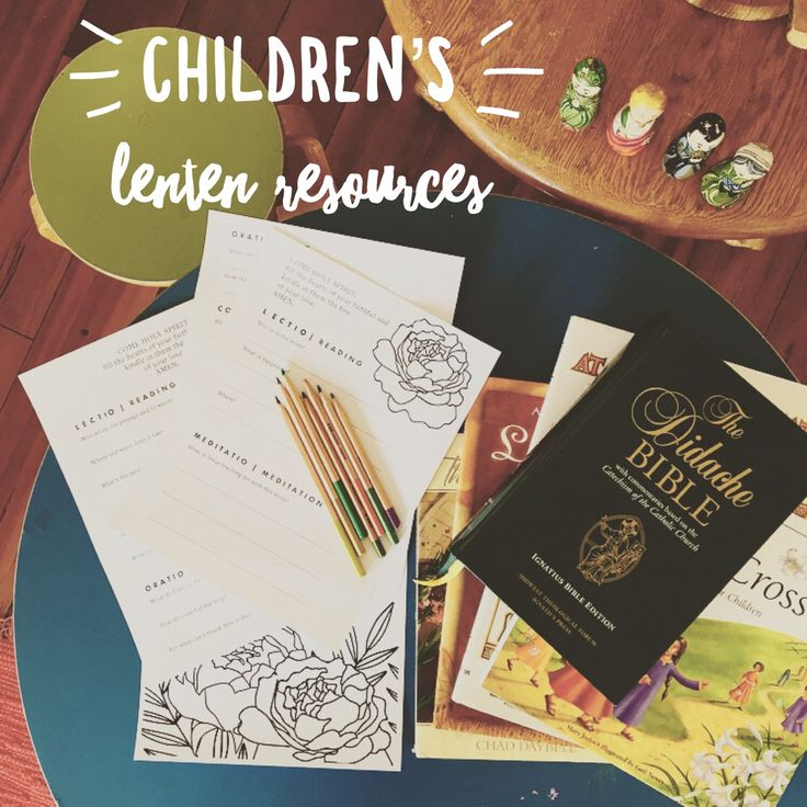 Lectio Divina resources & free printables for children!