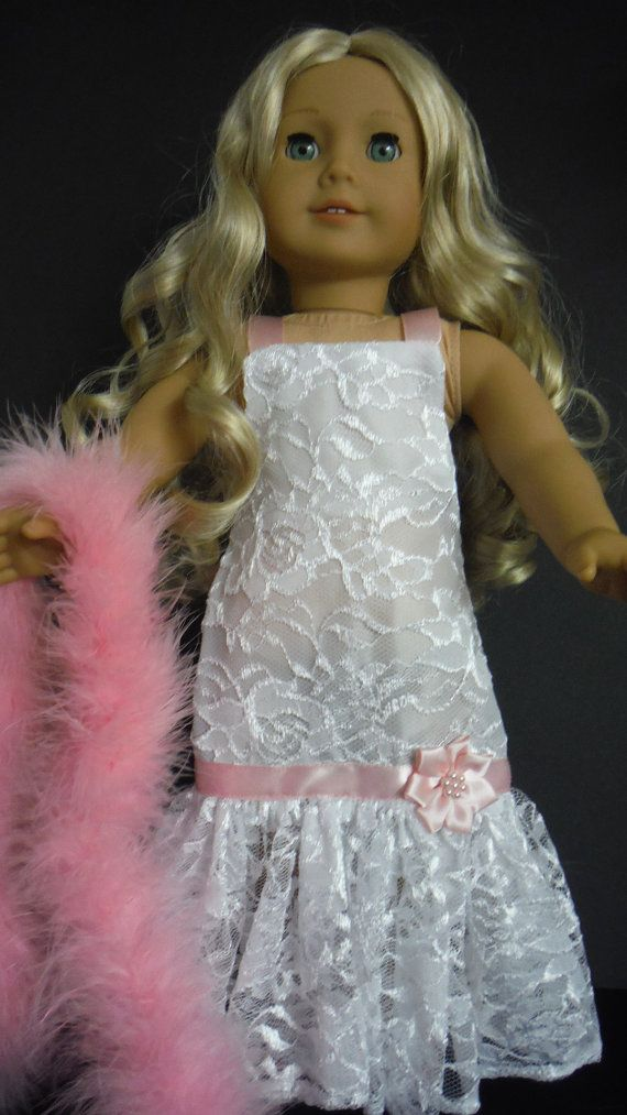S A L E 25% White Lace Gown and Boa 235 by susiestitchit on Etsy