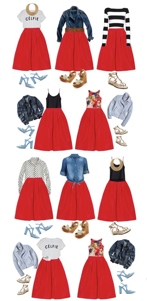 What to wear for spring 10 pieces >> 100 outfits !!!!   Color Me Courtney