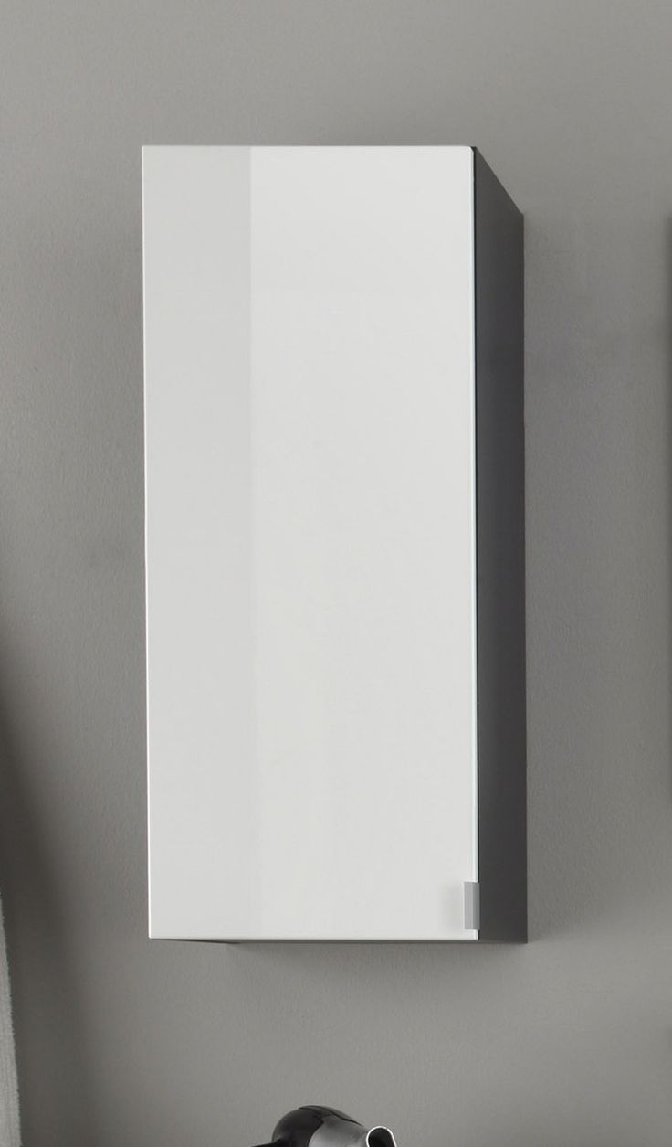 Superb H ngeschrank Weiss Hochglanz Tiefgezogen Grau Woody Melamin modern Jetzt bestellen unter https moebel ladendirekt de bad badmoebel
