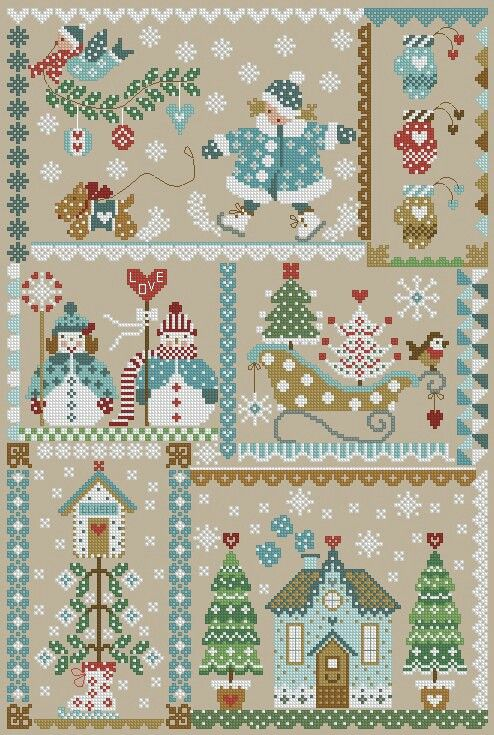 Tree Christmas cross stitch.