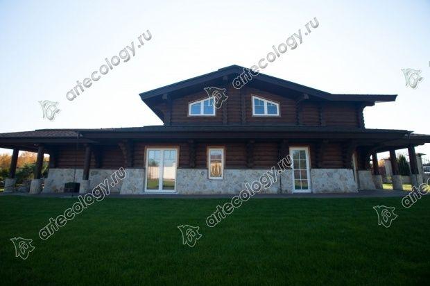 Комбинированный дом, боковой фасад