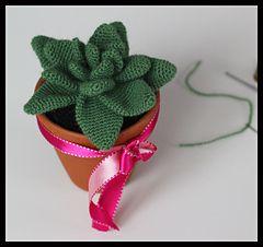 Cactus en croché. Gráfico gratis descargable
