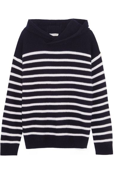 Vince's sweater is inspired by classic Breton tops - the striped style traditionally worn by French seamen. Spun from cashmere, this hooded sweater has a relaxed fit and mid-weight handle. Wear yours off-duty with jeans and sneakers.