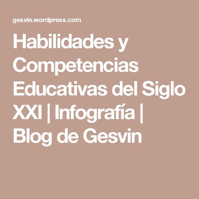 Habilidades y Competencias Educativas del Siglo XXI | Infografía | Blog de Gesvin