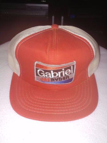 81740e947e1 Vintage Gabriel Gas Ryder Mesh Trucker Hat Snapback