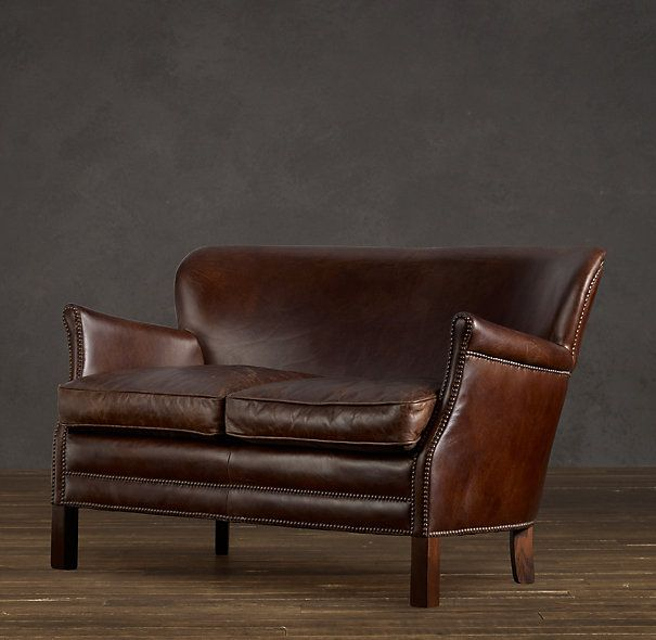 Professor's Leather Double Chair: Office, Restoration Hardware, Chairs, Catalog, Furniture, Products, Professor S Leather, Leather Double