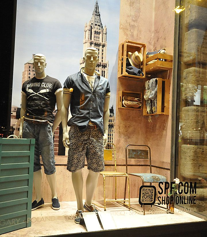Springfield window displays Summer 2012, Budapest visual merchandising