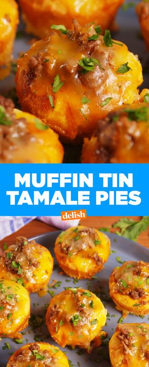 Mini Tamale Pies may be small, but they're a HUGE hit. Get the recipe from Delish.com.