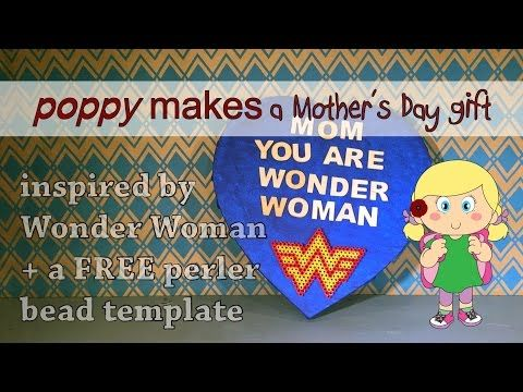 Poppy Makes... a Wonder Woman inspired Mother's gift. On my blog & YouTube channel (link in bio) you will find a step by step video tutorial on how to make this cool Mother's Day gift. Have fun!   #PoppyMakes #DIY #DoItYourself #WonderWoman #WarnerBros #DCcomics #Canvas #Logo #PerlerBeads #FREE #Template #Printable #Download #PDF #MothersDay #Moederdag #GalGadot #ChrisPine #DavidThewlis #HAMAbeads #Love #Crafting #HowTo #Make #VideoTutorial #Follow #Like #FaceBook #Instagram #YouTube
