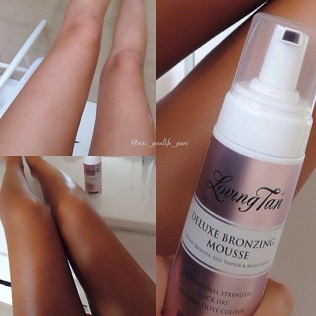 Loving the gorgeous @mrs_goodlife_pani before and after using #lovingtan deluxe bronzing mousse in dark. Filter no more! Definitely better tanned xx