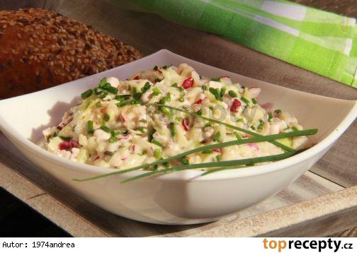 Hermelínový salát s ředkvičkami + Toprecepty