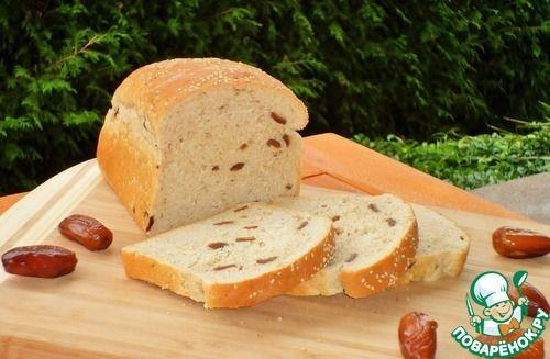 Сладкий медовый хлеб с финиками - кулинарный рецепт