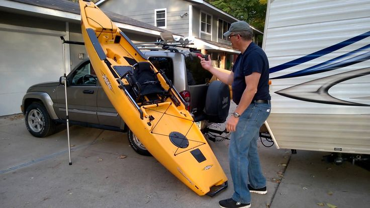 Hobie Pro Angler Kayak Roof Rack With A Rhino Side Loader