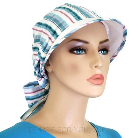 $23.50 - Blue Brimmed Hat - @ hatsforyou.net #cancer #chemo #alopecia #hair loss
