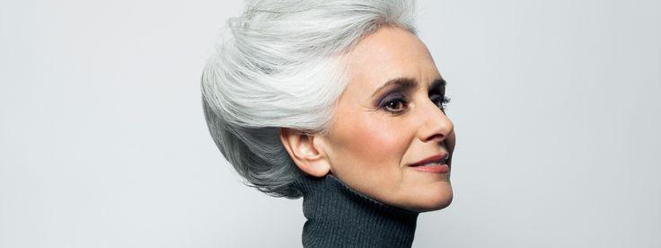 Elegante Frisuren für graue Haare