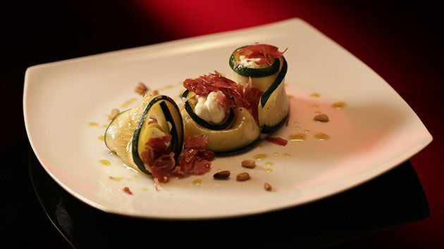 Zucchini Involtini with Homemade Ricotta