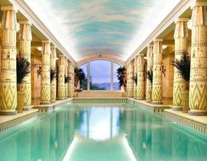 mansions with indoor pools egyptian themed indoor pool at the newly
