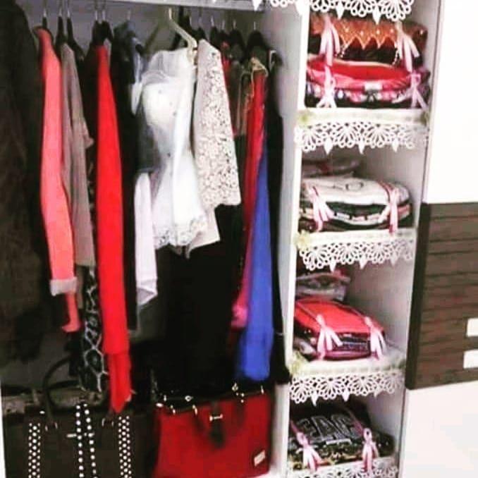 صور جهاز العروس افكار لترتيب الخزانة و تزيين جهاز العروشة Wardrobe Rack Home Deco Wardrobe