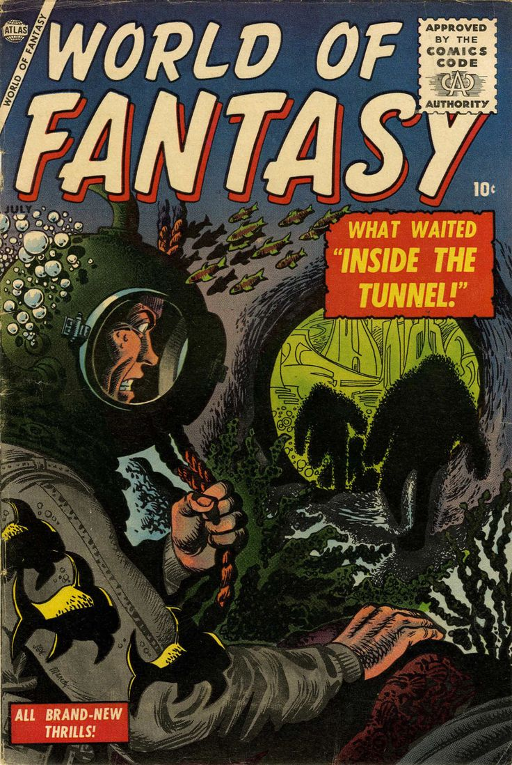 World of Fantasy (july 1956) - Cover by Joe Maneely