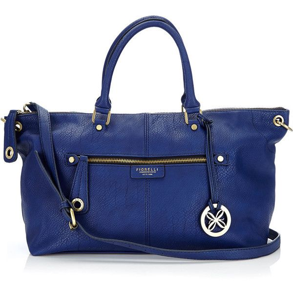 Navy Blue Fiorelli Shoulder Bag ($74) ❤ liked on Polyvore featuring bags, handbags, shoulder bags, navy, blue handbags, shoulder bag handbag, navy shoulder bag, pu handbags and zipper purse