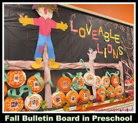 photo of: Fall Preschool Bulletin Board in Preschool via RainbowsWithinReach