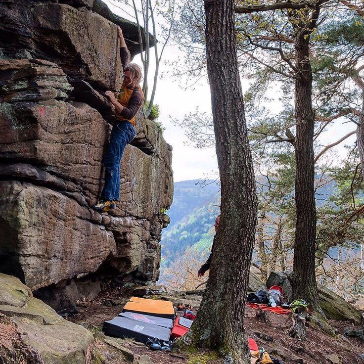 Bouldern in der Pfalz - Link in der Bio . #bouldering #fsthltn #pfalz #wolfsburg