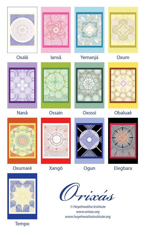 The Interior of Your Soul - Orixa Divination Cards - Available for Purchase - http://orixas.org/blog/orixa-divination-cards/