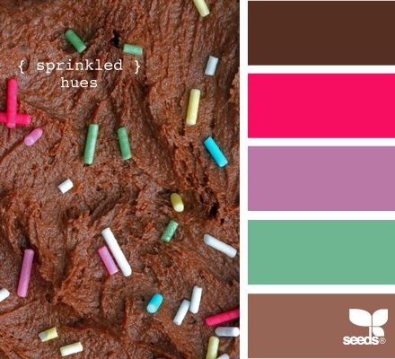 YUM. This is THE site to go to for color palettes and color inspiration.: Colour, Fun Color, Design Seeds, Sprinkles Colors, Sprinkled Hues, Color Palette, Color Idea
