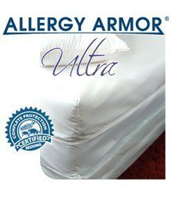 Ultra Allergy Armor Allergy Relief Mattress Cover by Allergy Armor. $161.99. Durable & Long-Lasting Allergy Relief with a Lifetime Warranty. Smooth, Soft & Luxurious Microfiber. 2.8 micron Average Pore Size, Best in Industry. Ultra Protection against Dust Mites, Pet Dander, Mold & Other Allergens. Breathable Membrane-Free Fabric. Allergy ArmorTM Ultra mattress and pillow encasings have the smallest pore size in the industry at 2.8 microns. The fine 100% polyester fabric g...