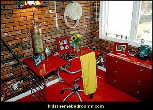 Firefighter Theme Bedroom Decorating Ideas Fireman Theme