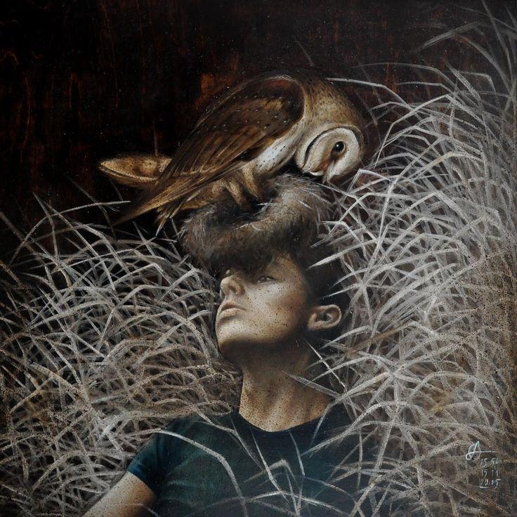 'Foresight' 50x50 cm (oil on wood panel) 2015