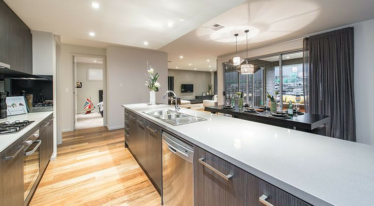 This stunning modern kitchen contains all the latest appliances for easy, enjoyable cooking. #kitchen