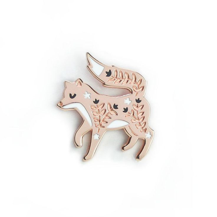 Fox Enamel Pin by Papio Press