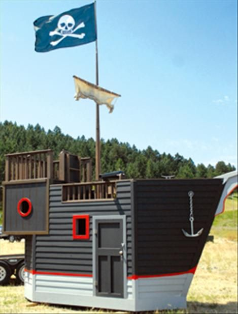 41 best images about Childrens Pirate Ship on Pinterest | Shed of the year, Play houses and The