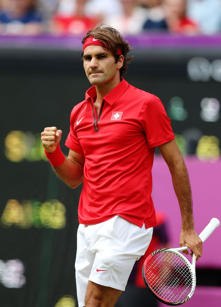 Roger Feder, undeniably one of the sexiest players at Wimbledon 2013 #tennis #wimbledon