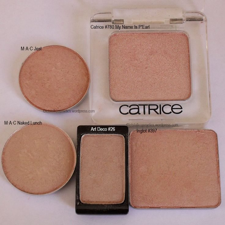 M·A·C Jest, M·A·C Naked Lunch, Catrice #780 My Name Is P'Earl, Art Deco #26, Inglot #397
