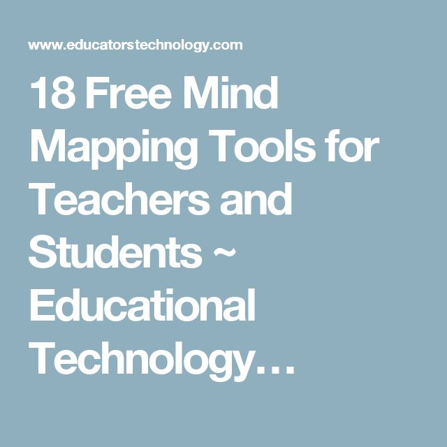 18 Free Mind Mapping Tools for Teachers and Students ~ Educational Technology…