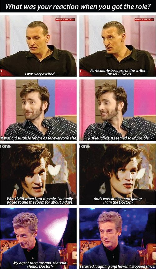 """""""What was your reaction when you got the role?"""" Matt Smith will always be my fav"""