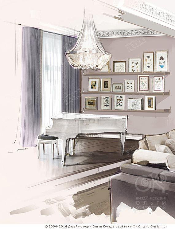 Декор сцены с роялем на подиуме  http://www.ok-interiordesign.ru/ph_interior-decoration.php