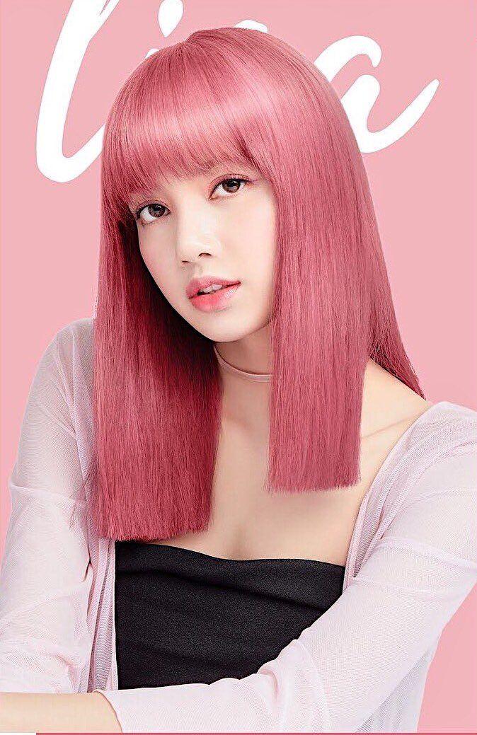 Lalice Thailand On Twitter Blackpink Lisa Pink Hair Black Pink Kpop