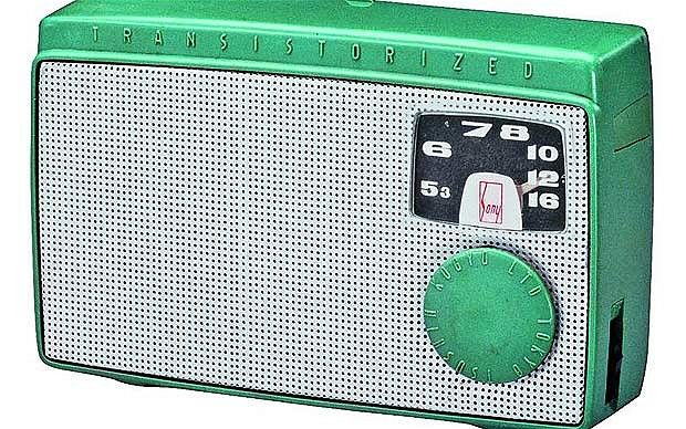 Sony TR-55 transistor radio - 1955   The TR-55 was Sony's first transistor radio, and the first to be made in    Japan. The use of transistors rather than vacuum tubes allowed the device to    be much smaller than earlier radios, and allowed them to be the first truly    portable radio from Japan