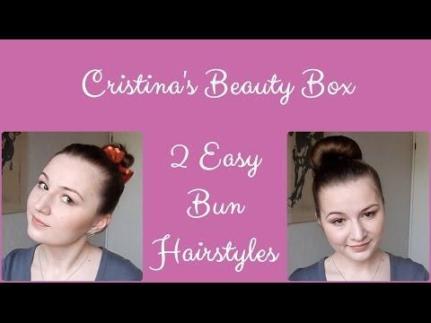 2 Easy Everyday Bun Hairstyles for Layered Hair - YouTube