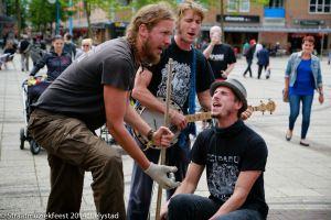 Bucket Boyz tjdens Straatmuziekfeest Lelystad 2014