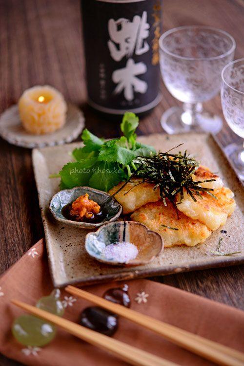 長芋焼き(塩、わさび醤油、海苔など)