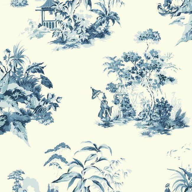 Af1990 Ashford Toiles Oriental Scenic Wallpaper By York
