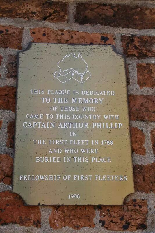 Plaque in St John's Cemetery,Parramatta.A♥W Parramatta History NSW