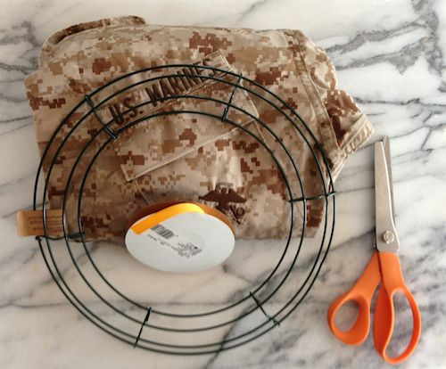 DIY military wreath
