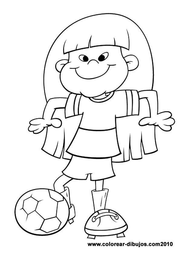 Dibujos de deportes para colorear; dibujos de niña con pelota de ...